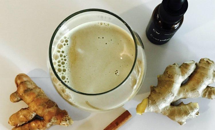 Raw Golden Milk Hemp Oil Latte Recipe