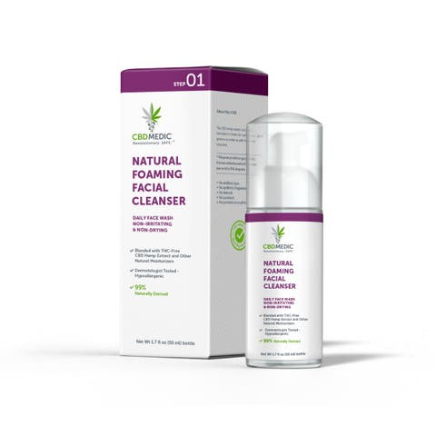 Acne Natural Foaming Facial Cleanser with CBD | Charlotte's Web™