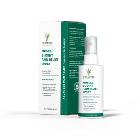 Muscle & Joint Pain Relief Spray with CBD | Charlotte's Web™